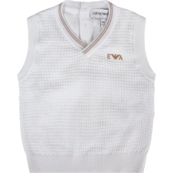 Armani Collezioni White Vest For Baby Boy With Iconic Eagle found on MODAPINS from italist.com us for USD $88.55