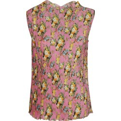 MSGM All-over Floral Print Sleeveless Pleated Top found on Bargain Bro UK from Italist