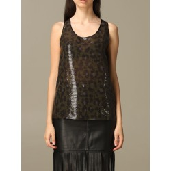Boutique Moschino Top Moschino Boutique Top In Animalier Sequins found on MODAPINS from Italist for USD $295.12