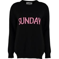 Alberta Ferretti sunday Intarsia Rainbow Week Sweater