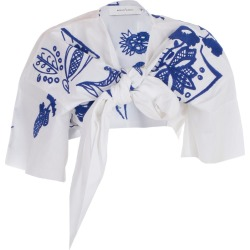 MarquesAlmeida Embroidered Cropped Top found on Bargain Bro India from italist.com us for $272.02