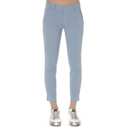 Dondup Slim Pants In Light Blue Cotton