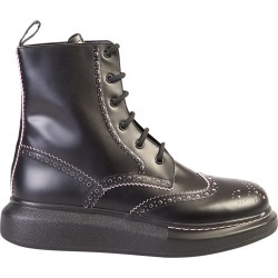 Alexander McQueen Logo Print Leather Boots found on MODAPINS from Italist for USD $836.91