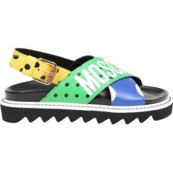 Moschino Polka Dots Sandal In Multicolor Calfskin found on Bargain Bro UK from Italist