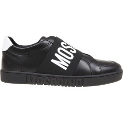 Moschino Slip On In Leather With Logo Band found on Bargain Bro UK from Italist