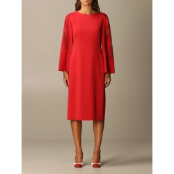 Alberta Ferretti Dress Long Sleeve Cady Lace Insert found on MODAPINS from Italist for USD $1313.31