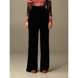 Etro Pants Etro Palazzo Trousers In Silk Velvet found on Bargain Bro UK from Italist