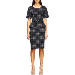 Boutique Moschino Dress Boutique Moschino Dress In Polka Dot Cotton found on MODAPINS from Italist for USD $563.70