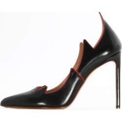 Francesco Russo Black Leather Flame Pump found on MODAPINS from Italist for USD $459.53