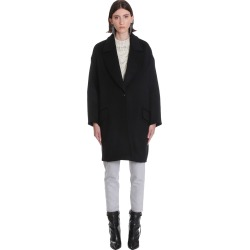 Isabel Marant Ego Coat In Black Wool found on Bargain Bro UK from Italist