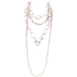Night Market Jewelry Pearl And Bead Layered Necklace found on Bargain Bro India from italist.com us for $208.89