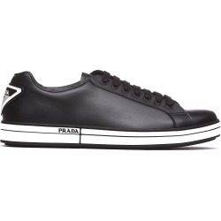 Prada Linea Rossa Black Leather Sneakers found on MODAPINS from Italist for USD $470.87