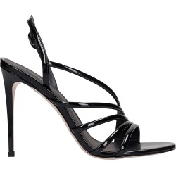 Le Silla Scarlet Sandals In Black Patent Leather found on MODAPINS from Italist for USD $626.44