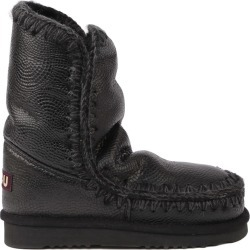 Mou Black Eskimo 24 Boots In Leather found on Bargain Bro India from italist.com us for $314.39