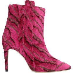 Bams High Heels Ankle Boots In Fuxia Fabric found on MODAPINS from italist.com us for USD $505.19