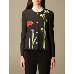 Boutique Moschino Jacket Moschino Boutique Jacket In Cady With Botanical Pattern