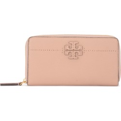 Tory Burch Modello Mcgraw Sand Tumbled Leather Wallet