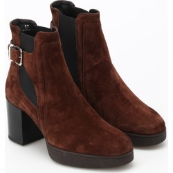 Tods Heeled Suede Ankle Boots found on Bargain Bro Philippines from Italist Inc. AU/ASIA-PACIFIC for $527.13