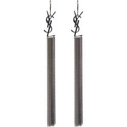 Saint Laurent Ruthenium Color Brass Monogram Earrings found on Bargain Bro India from italist.com us for $703.14