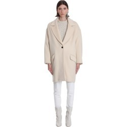 Isabel Marant Ego Coat In Beige Wool found on Bargain Bro UK from Italist