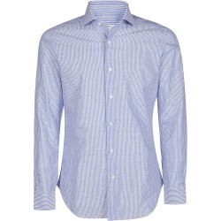 Barba Napoli Light Blue Linen-cotton Blend Shirt found on MODAPINS from Italist for USD $199.05