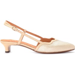 Chie Mihara Rafia Platinum Laminated Leather Heeled Sandal found on MODAPINS from italist.com us for USD $319.28