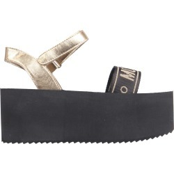Moschino Sandals With Tape Logo Wedge found on Bargain Bro UK from Italist
