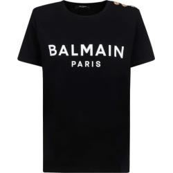 Balmain Ss 3 Btn Printed Logo T-shirt - Eco Sustainable found on Bargain Bro UK from Italist
