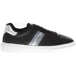 Hogan H365 Black Leather Sneakers With Glitter Insert found on Bargain Bro UK from Italist