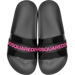 Dsquared2 Black And Neon Pink Tape Womens Flip Flop Pool Sandals found on Bargain Bro UK from Italist