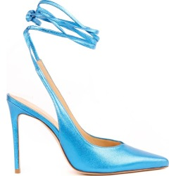 Aldo Castagna Light Blue Metallic Leather Pumps found on MODAPINS from Italist for USD $293.84