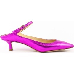Fabio Rusconi Pink Metallic Leather Pumps found on MODAPINS from italist.com us for USD $206.71