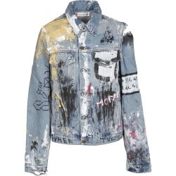Faith Connexion Vandalized Denim Jacket found on MODAPINS from Italist for USD $713.73