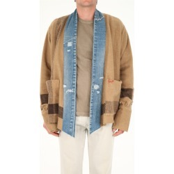 Greg Lauren Striped Boxy Jacket found on MODAPINS from italist.com us for USD $908.66
