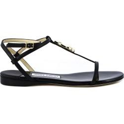 Jimmy Choo Black Alodie Flat Sandal found on Bargain Bro UK from Italist