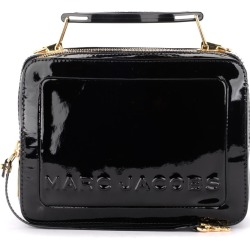 The Marc Jacobs Model Shoulder Bag The Textired Mini Box Bag In Black Paint Leather found on Bargain Bro UK from Italist