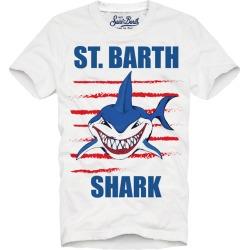 MC2 Saint Barth T-shirt Boy Shark St Barth found on Bargain Bro from italist.com us for USD $64.78