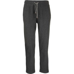 Brunello Cucinelli Cashmere And Cotton Chalk Stripe French Terry Trousers found on Bargain Bro UK from Italist