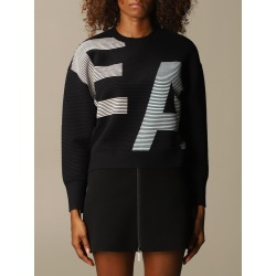 Emporio Armani Sweater Emporio Armani Sweater In Ribbed Fabric With Big Logo found on Bargain Bro UK from Italist