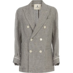 Barena Riccarda Pied De Poule Double Breasted Jacket Loose Fit found on MODAPINS from Italist for USD $728.63
