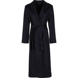 Agnona Navy Blue Cashmere Coat found on MODAPINS from Italist for USD $2631.29