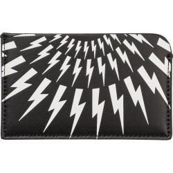 Neil Barrett Genuine Leather Credit Card Case Holder Wallet Thunderbolt Fair-isle found on Bargain Bro UK from Italist