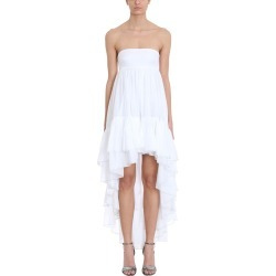 Alexandre Vauthier Asymmetric White Cotton Dress found on MODAPINS from Italist Inc. AU/ASIA-PACIFIC for USD $2616.68
