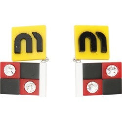 Miu Miu Plexi Flag Earrings found on Bargain Bro India from italist.com us for $196.83