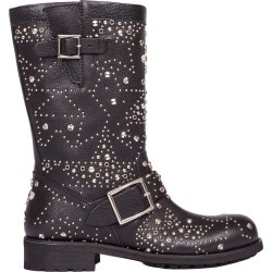 Jimmy Choo Black Leather Biker Boots found on Bargain Bro Philippines from Italist Inc. AU/ASIA-PACIFIC for $1241.80