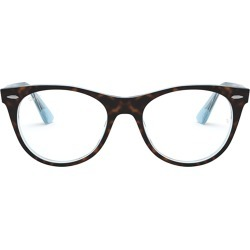 Ray-Ban Ray-ban Rx2185v Top Havana On Light Blue Glasses found on Bargain Bro UK from Italist