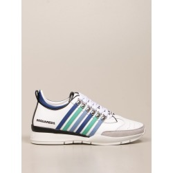 Dsquared2 Sneakers Dsquared2 Sneakers In Leather With Bands found on Bargain Bro UK from Italist