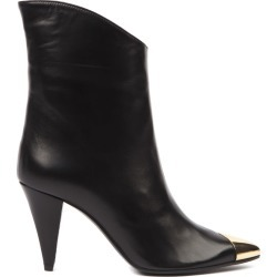 Aldo Castagna Black Leather Boots With Metal Toe found on MODAPINS from Italist for USD $274.95