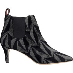 Bams High Heels Ankle Boots In Black Fabric found on MODAPINS from Italist for USD $438.47