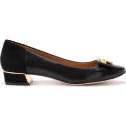 Tory Burch Gigi Ballerina With Logo In Soft Black Nappa And Suede found on Bargain Bro UK from Italist